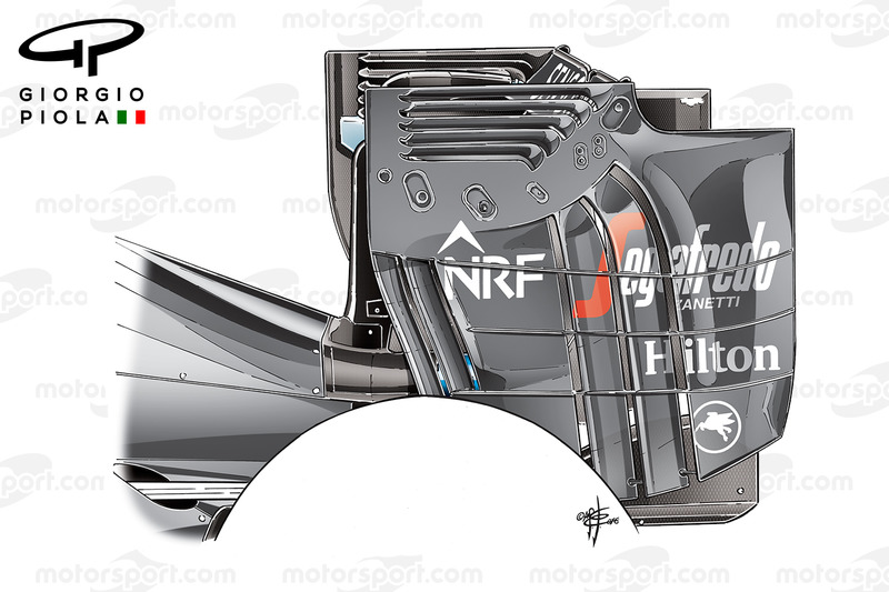McLaren MP4/31 rear wing endplate, Austrian GP