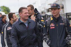 (L to R): Jos Verstappen, with his son Max Verstappen, Red Bull Racing