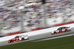 Justin Allgaier, JR Motorsports Chevrolet, Brad Keselowski, Team Penske Ford
