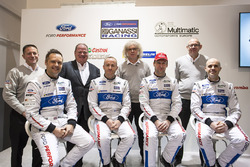 Marino Franchitti, Stefan Mücke, Andy Priaulx, Olivier Pla, Chip Ganassi Racing, George Howard-Chappell, Ford GT program manager, Larry Holt, Multimatic Motorsports Technical Director, Dave Pericak, Director, Ford Performance, Chip Ganassi, Chip Ganassi Racing