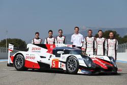 #5 Toyota Racing Toyota TS050 Hybrid: Anthony Davidson, Sébastien Buemi, Kazuki Nakajima, Alexander Wurz, Mike Conway, Stephane Sarrazin and Kamui Kobayashi