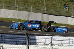 リヤタイヤをバーストさせた#12 カルソニック IMPUL GT-R