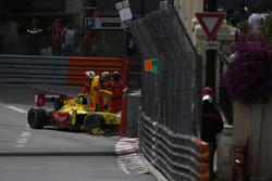 Sean Gelael, Campos Racing climbs out of his car