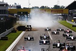 Akash Nandy, Jenzer Motorsport rolls his car