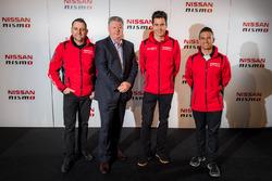 Rick Kelly, Nissan Motorsport, Todd Kelly, Nissan Motorsport, Richard Emery, Nissan Australia Managing Director & CEO, Michael Caruso, Nissan Motorsport