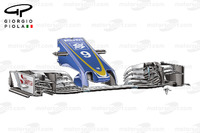 Formula 1 Photos - Sauber C35 front wing,Belgium GP