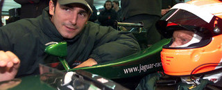 Formula 1 Lauda drives the Jaguar R2 at Valencia
