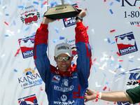 IRL: Herta wins Kansas in third Indy Racing start