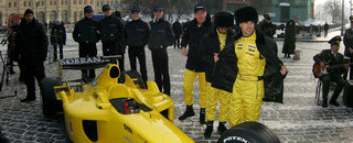 Formula 1 Jordan launches in Moscow's Red Square