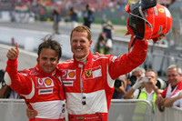 Schumacher leads Ferrari one-two at German GP
