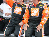 Stewart wins Brickyard 400 in dramatic fashion