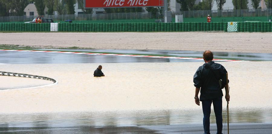 Melandri tops Misano practice before storm hits