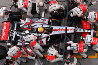 McLaren relegated down Bahrain pit lane