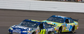 NASCAR Sprint Cup Johnson sweeps caution-laden Brickyard 400
