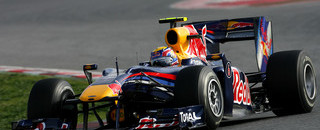Webber flies on first day of Barcelona test