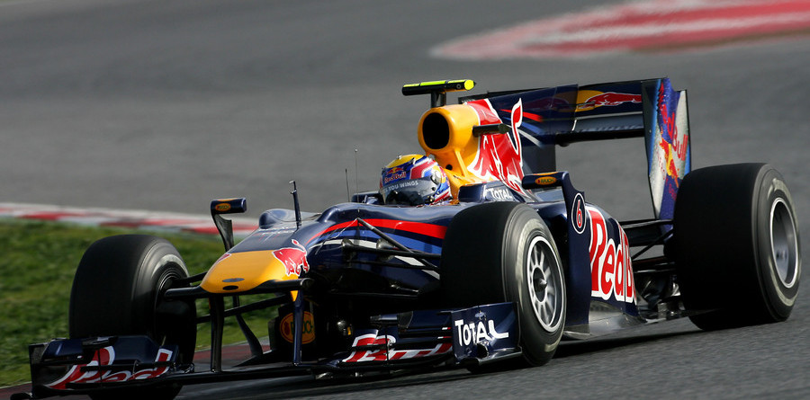 Webber flies on first day of Barcelona test