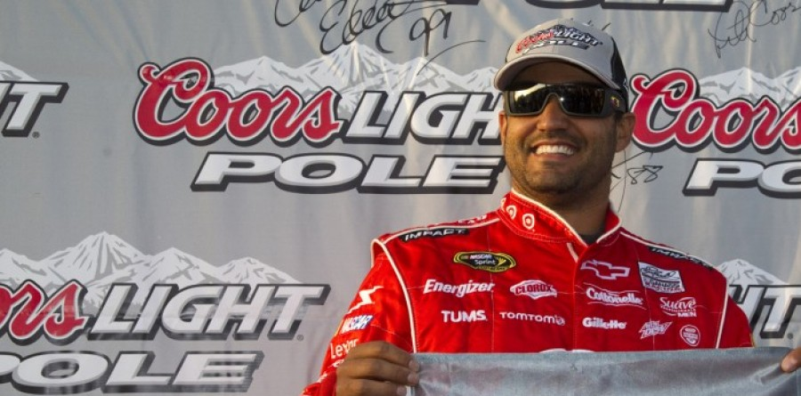 Montoya claims the pole in California