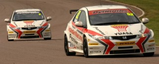 BTCC Honda Duo Dominate At Thruxton