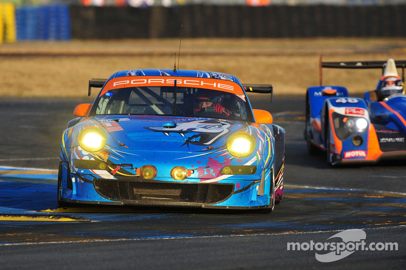 Flying Lizard Le Mans Hour 18 Report
