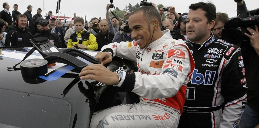 Lewis Hamilton And Tony Stewart Swap Cars At Watkins Glen