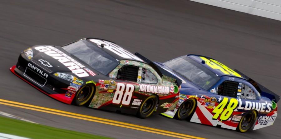 Earnhardt & Johnson NASCAR Pocono II Friday Media Visit