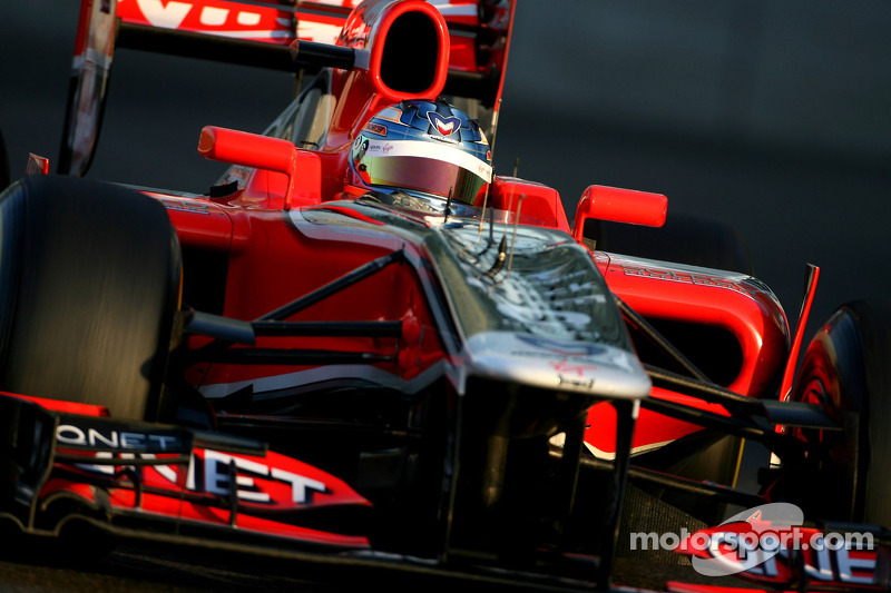 Marussia Virgin Abu Dhabi young driver test Wednesday report