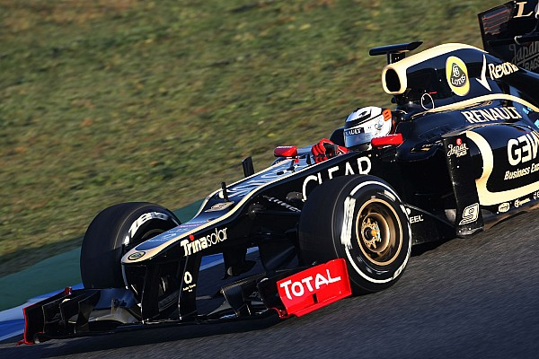 Lotus' new driver Raikkonen tops day one in Jerez pre-season test