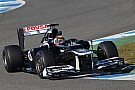 Williams Jerez test day 1 report