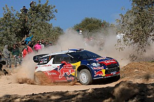 WRC Loeb and Elena roll out of Rally Portugal on stage 3