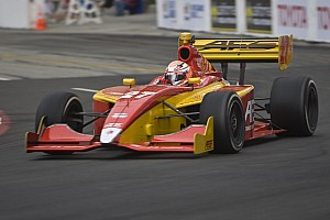 Indy Lights Saavedra grabs pole while Vautier lands in Long Beach tire wall