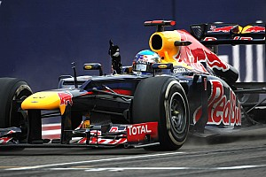 Formula 1 Vettel and Red Bull pleased with first win in 2012
