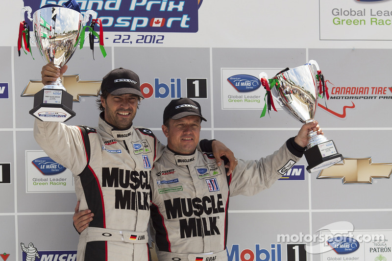 Luhr and Graf celebrate win in Mosport; tight GT battle on final laps