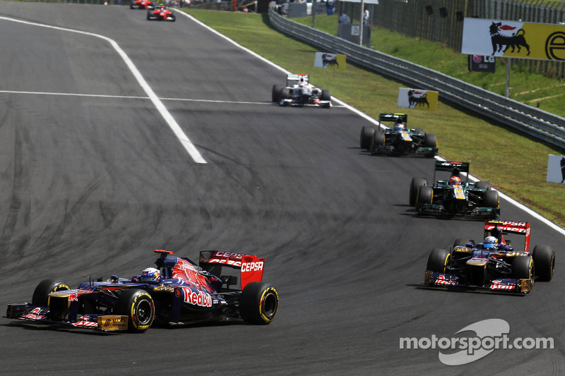 Toro Rosso drivers gave it ther best on the Hungaroring