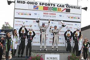 ALMS Race report Graf and Luhr take fifth consecutive 2012 win at Mid-Ohio