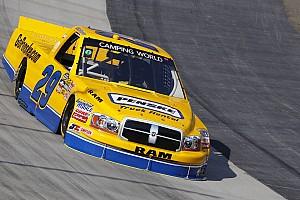 Brad Keselowski takes over driving duties of his team's truck for Michigan
