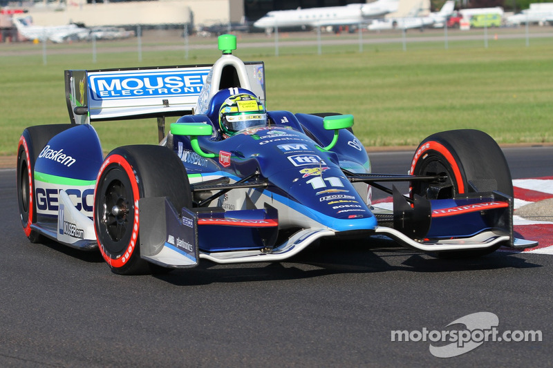 KV Racing's Tony Kanaan comes from deep in Mid-Ohio field to finish sixth