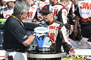 NASCAR Sprint Cup Race report Biffle earns Fenway's record 12th Sprint Cup win at Michigan