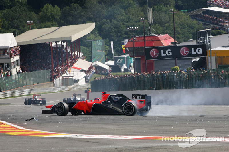 Glock and Pic provided some great racing spectacle on Belgian GP