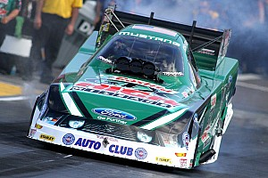 NHRA Race report John Force on winning inaugural Nitro Shootout Funny Car race
