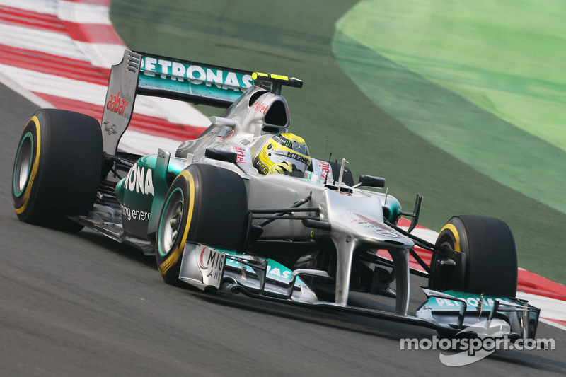 Mercedes's Rosberg qualified in 10th place for the Indian Grand Prix