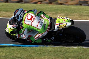 MotoGP Race report Barbera slowed by chattering problems in Australian GP