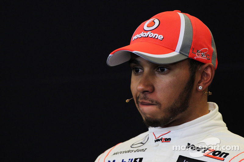 Hamilton cries during interview for last McLaren race