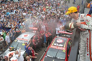 V8 Supercars Race report TeamVodafone celebrates second consecutive 1-2 championship finish - video