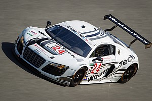 Audi on third row of the grid for the Rolex 24 at Daytona