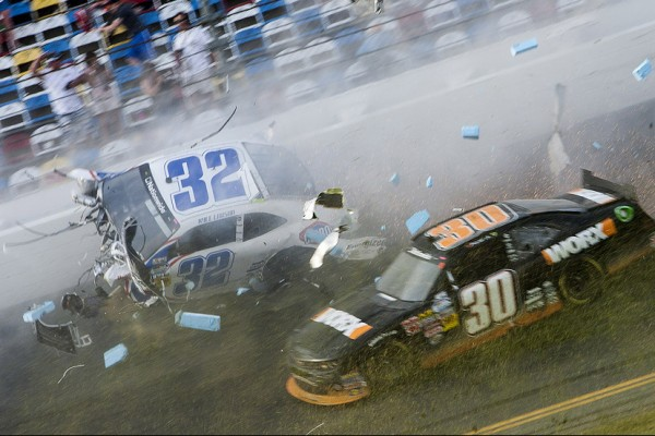 Last lap crash overshadows another Stewart NNS win at Daytona