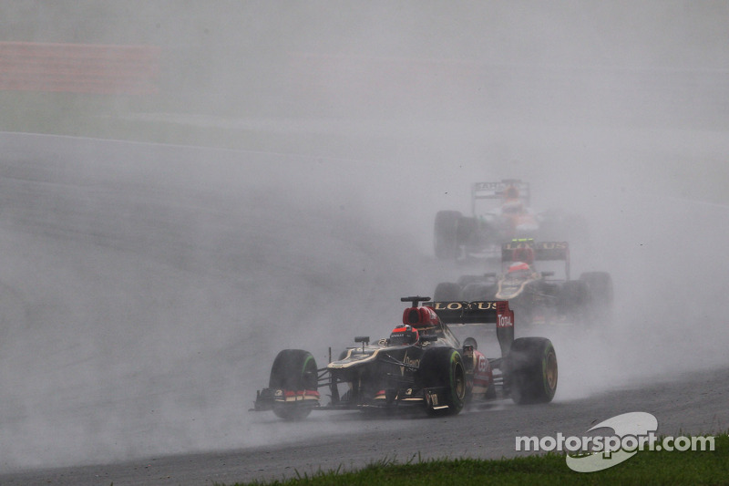 Grosjean finished sixth and Raikkonen seventh in Malaysian GP