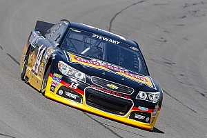 NASCAR Sprint Cup Race report Stewart stands ground after losing position in Fontana