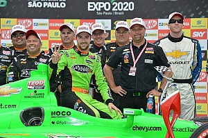 IndyCar Race report Hinchcliffe scores thrilling win on streets of Sao Paulo