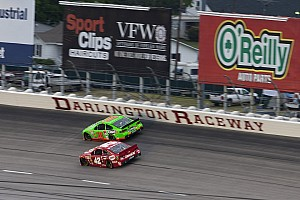 NASCAR Sprint Cup Race report Long green flag runs cause long night for Patrick at Darlington Raceway