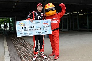 Indy Lights Qualifying report Karam captures pole position for Freedom 100 in Indianapolis